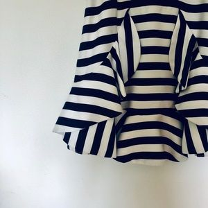 cameo Dresses - Cameo boutique brand white/navy strip mini dress